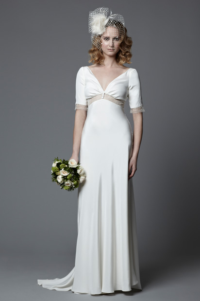 Lotty 1940s Wedding Dress Vintage Style