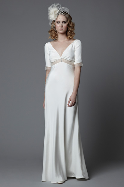 Style Wedding Dress Lotty 1940s Vintage Gown