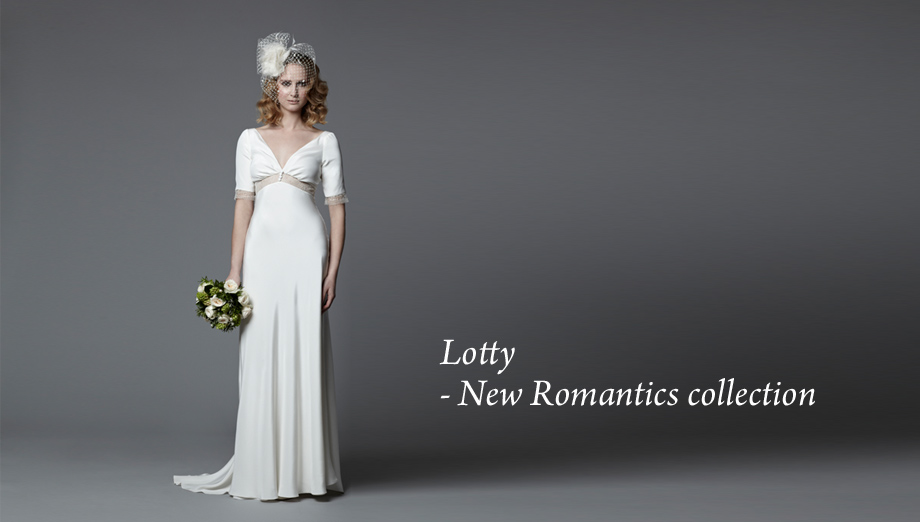 Vintage inspired wedding gown Lotty 1940s wedding dress style