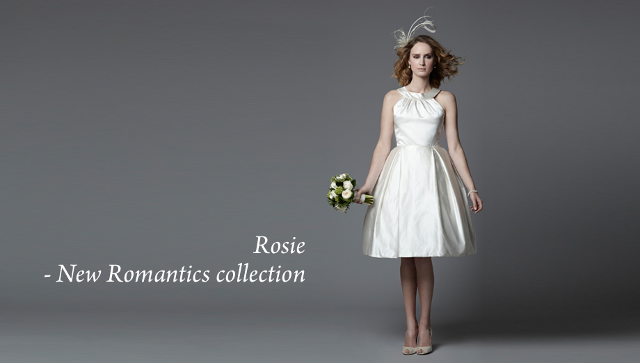 1950's inspired knee length wedding dress