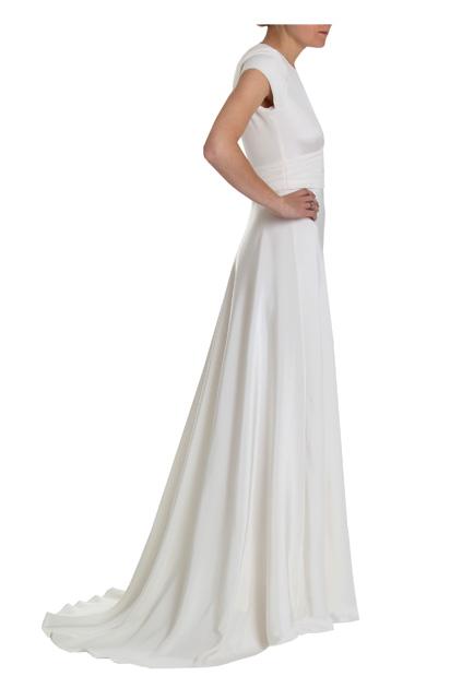 Honey - 1940s Vintage Silk Crepe Cap-sleeved Wedding dress   Circa ...